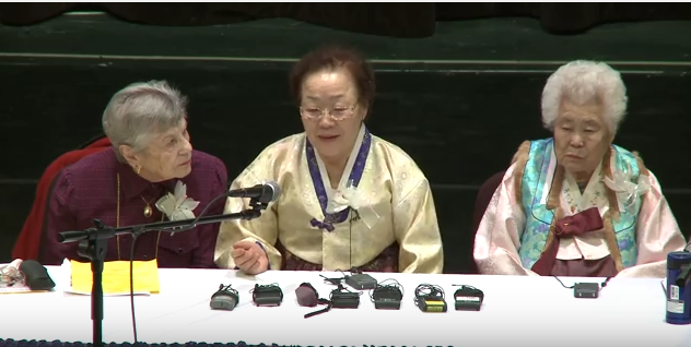 "Korean ""comfort women"" and Holocaust survivors meet in 2011."