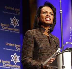 TALING THE TALKS: Secretary of State Condoleezza Rice's efforts to enlist American Jewish support for upcoming Israeli-Palestinian peace talks included an address this week to the United Jewish Communities' annual General Assembly
