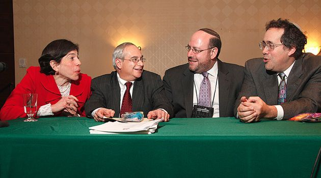 Leaders: From left, Rabbi Julie Schonfeld of the Rabbinical Assembly; Cantor Stephen Stein of the Cantors Assembly; Rabbi Steven C. Wernick of the United Synagogue of Conservative Judaism and Rabbi Bradley Shavit Artson of the Ziegler School of Rabbinic Studies.