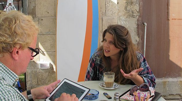 One More Cup of Coffee: Tuvia Tenenbom meets with Daphni Leef in a Tel Aviv café.
