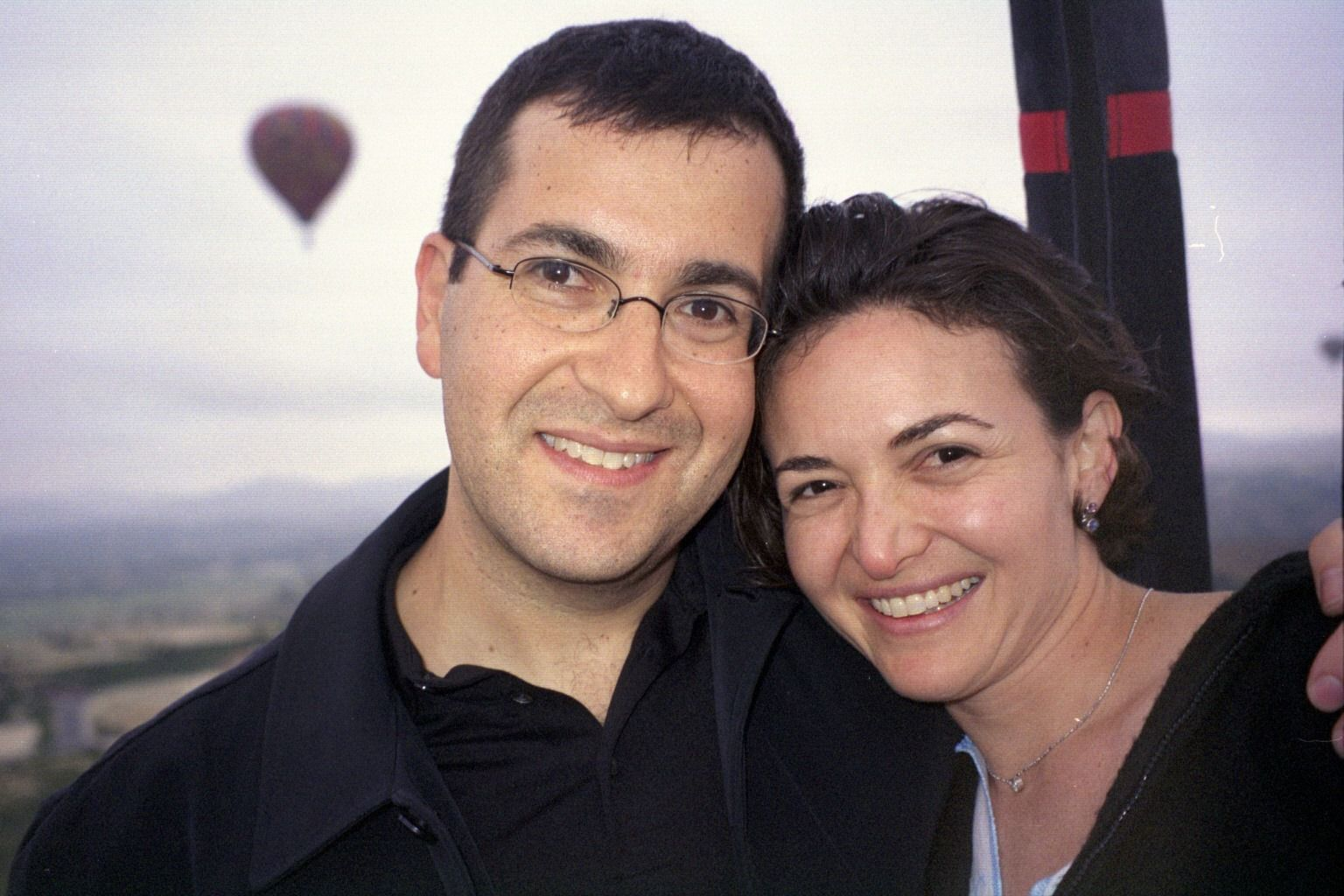 Dave Goldberg and Sheryl Sandberg, posted to her Facebook page.