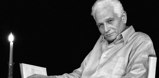 What Is Enlightenment?: French philosopher Jacques Derrida poses at home in Ris-Orangis, near Paris, in January 2001.
