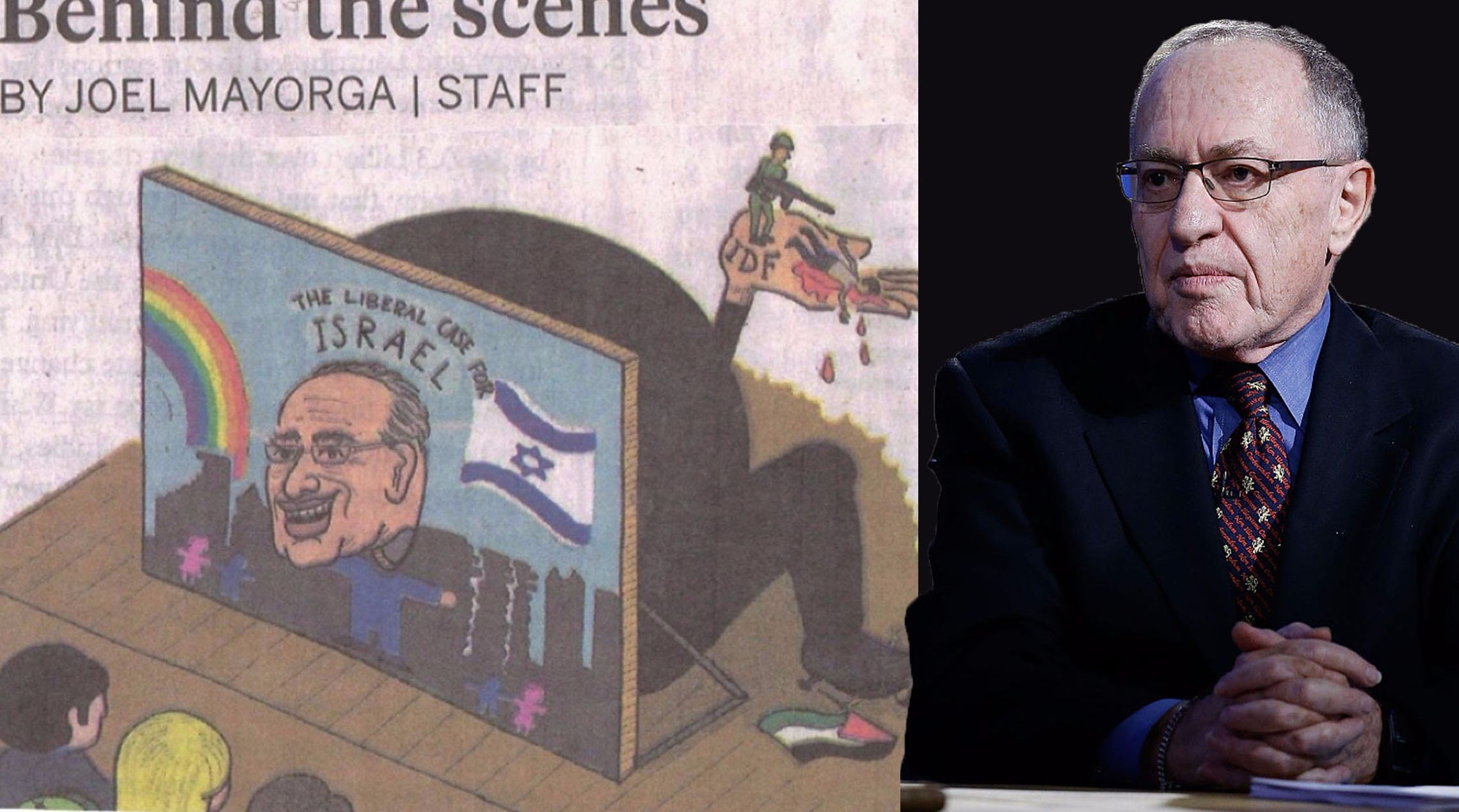Alan Dershowitz Says Cartoon Was Anti Semitic The Forward