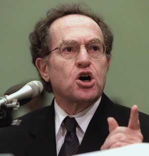 Harvard Law School Professor Alan Dershowitz testifies before the US House Judiciary Committee during President Clinton?s impeachment hearings.