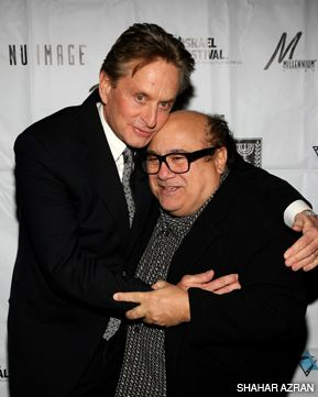 ODD COUPLE: Michael Douglas and Danny DeVito on the red carpet at the Israel Film Festival in New York.