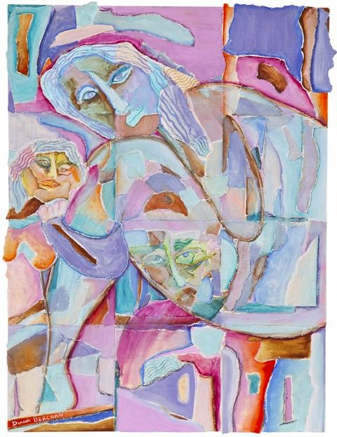 """""""Family Intricacy,"""" a painting by Artists' Beit Midrash student Diana Berchan, will be on display at the pop-up exhibition on June 15."""