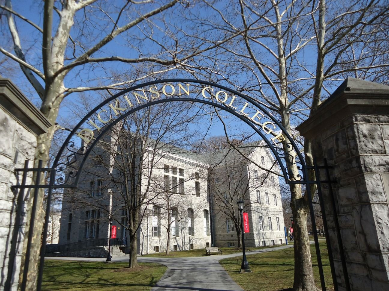 The entrance to Dickinson College