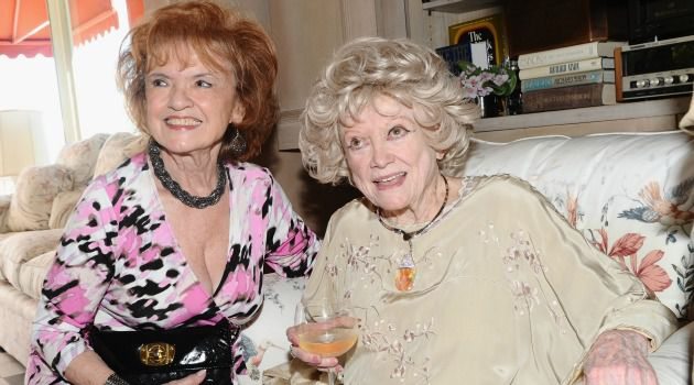 Phyllis Diller With actress Elaine Dupont