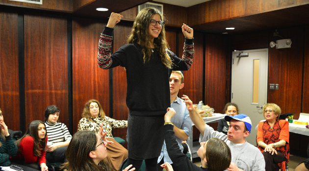 Paying It Forward: Sarah Cohen, 17, helps to dramatize the stories of Holocaust survivors at a session of the Witness Theater program in Brooklyn.