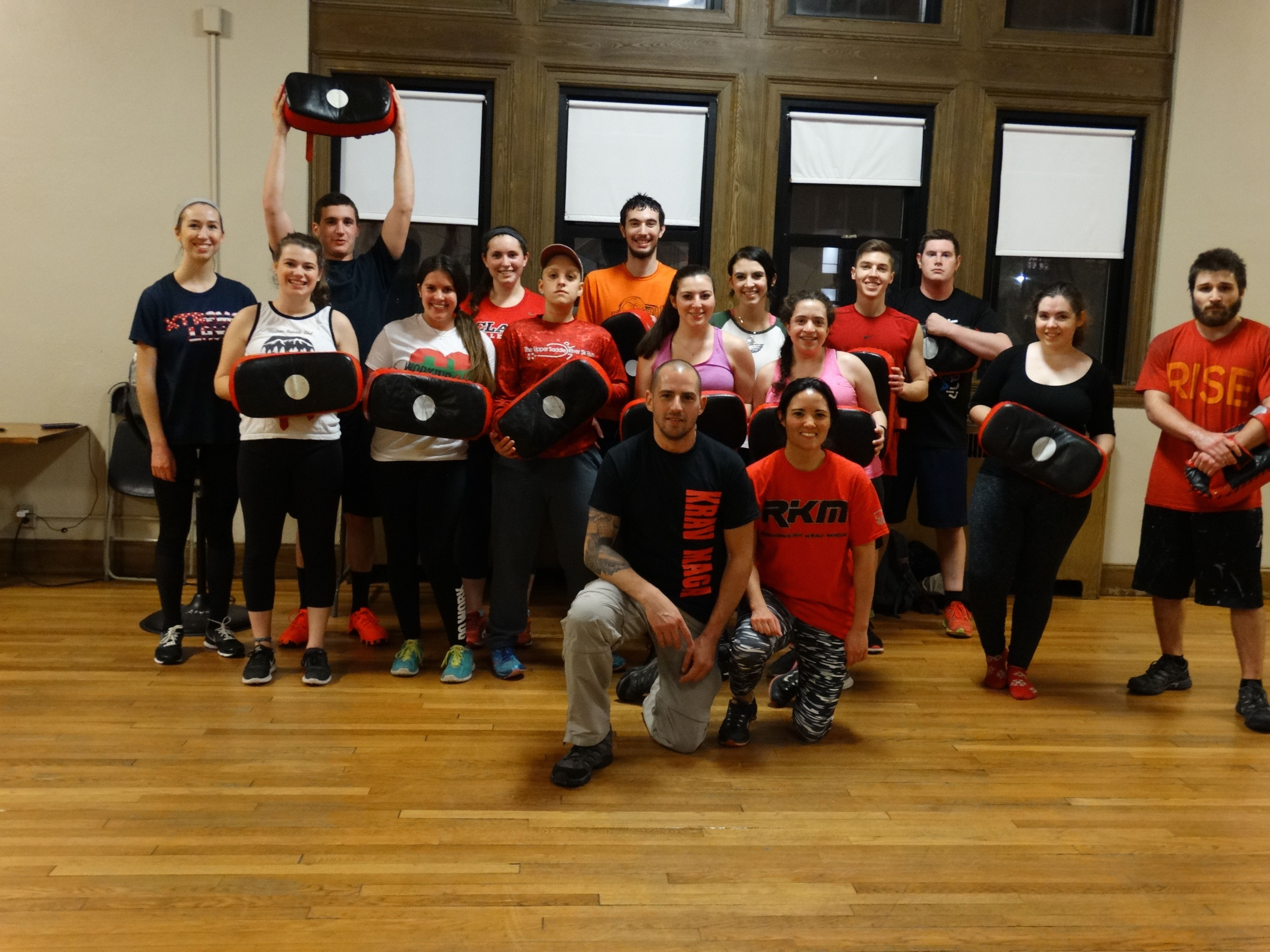Clark students learn Krav Maga.
