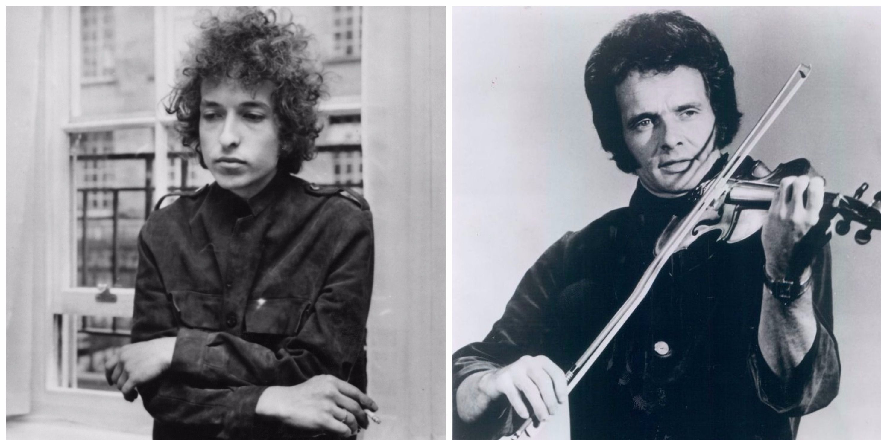 A young Bob Dylan and Merle Haggard.