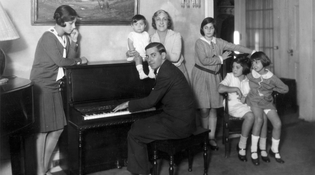 75 Years Ago: Eddie Cantor, pictured here with his family, was threatened by Nazis.