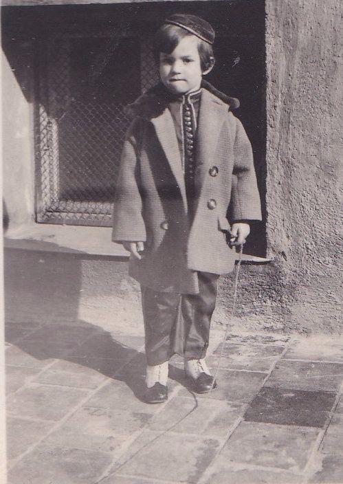 Edgar Feuchtwanger as a boy