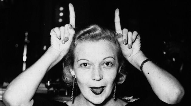 Madame Butterfly: Marta Eggerth has some fun with the press in 1965.