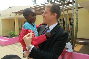 Elad Strohmayer at an orphanage in Angola.