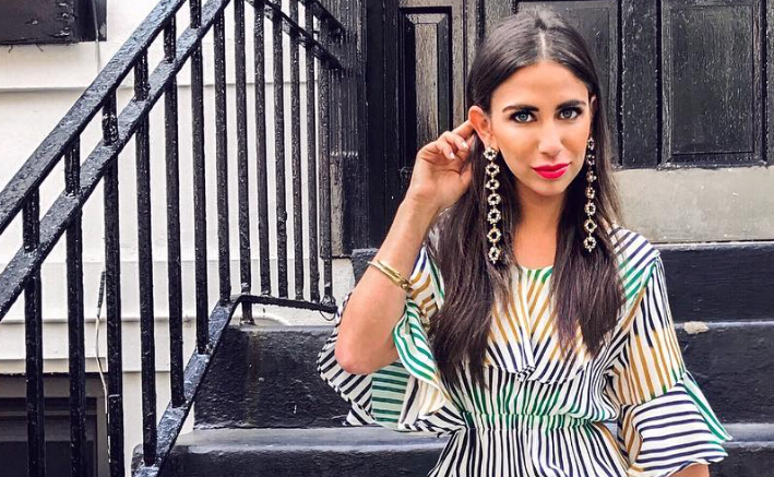 Elizabeth Savetsky, @excessoriesexpert on Instagram, models Gucci for Amuze.