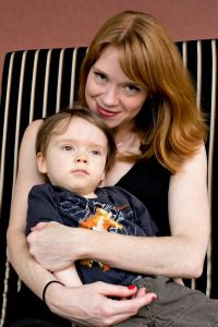 Emily Rapp with her son, Ronan, who died of Tay-Sachs disease in February.