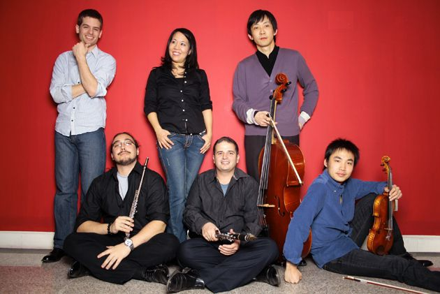 Kosher Chinese: A blossoming Beijing classical music group with Jewish roots. From left, conductor Eli Marshall, flautist Nikola Atanasov, pianist Michelle Yip, clarinetist Keith Lipson, cellist Zhu Mu and violinist Gao Can.