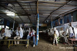 HERE TO STAY: Ethiopians waiting to immigrate to Israel have attended services at a makeshift synagogue in Addis Ababa