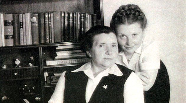 Mother and Child Reunion: Eva Eismann poses with her mother, Sarah, after the two reunited after the war.