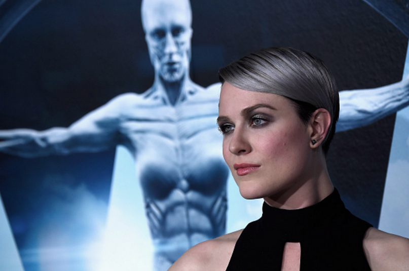 """The Host With The Most: Emmy-nominated actress Evan Rachel Wood walks the red carpet at the premiere of her HBO show """"Westworld."""""""
