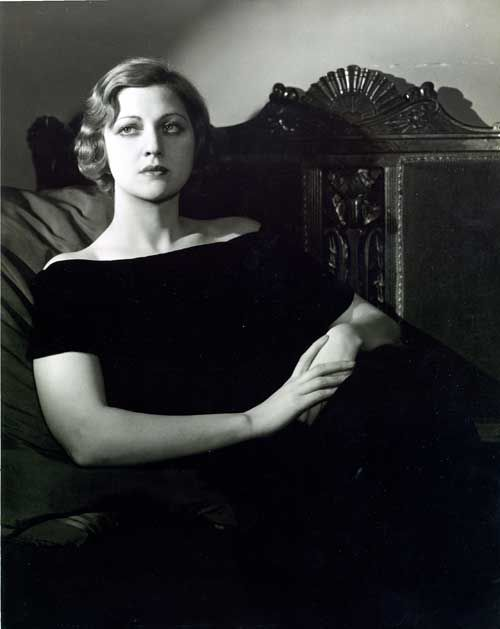 Seated portrait of Stella Adler.