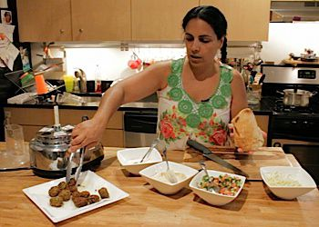 Chef Einat Admony shows us how to make her signature falafel at home.