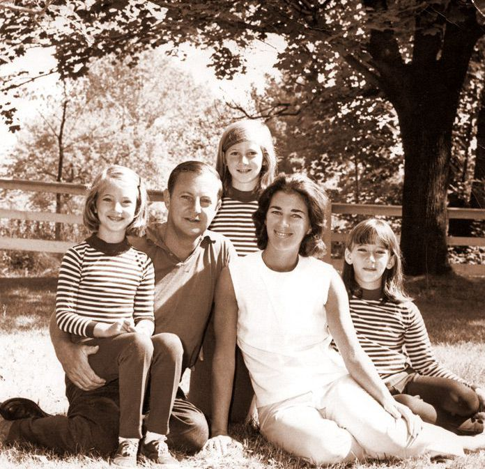 Kim Bendheim, far left, at age 7 with her family.