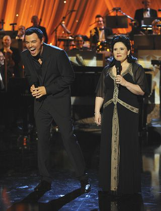 More Flack: Seth MacFarlane, left, and Alex Borstein perform during a Fox show.