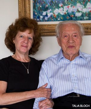 FAMILY TIES: Researchers are studying Jewish centenarians and their children ? including Fred Feuerstein, 100, and his daughter Linda Burghardt, 61 (above) ? in an effort to unlock the genetic secrets behind long life.