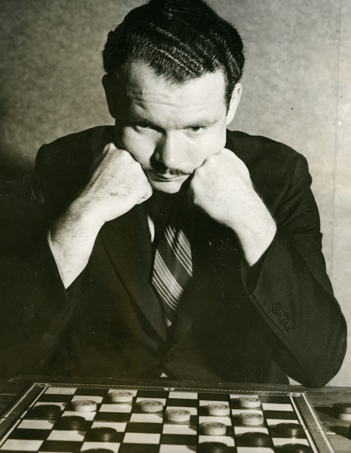 A Winning Look: Nathaniel Rubin, 25, the reigning champion, won the National Checkers Association's annual tournament in Providence, R.I., where he defeated William Ryan of New York City, winning two out of six games; four games were draws.