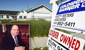 End of the Road: Home foreclosures have been spreading, leading David Grossack, inset, to take his client?s case to a rabbinical court.