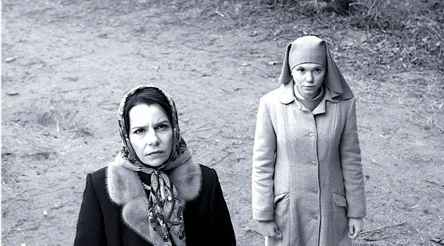 Looking Up: Agata Kulesza (left) and Agata Trzebuchowska star in Pawel Pawlikowski's Oscar-nominated film.