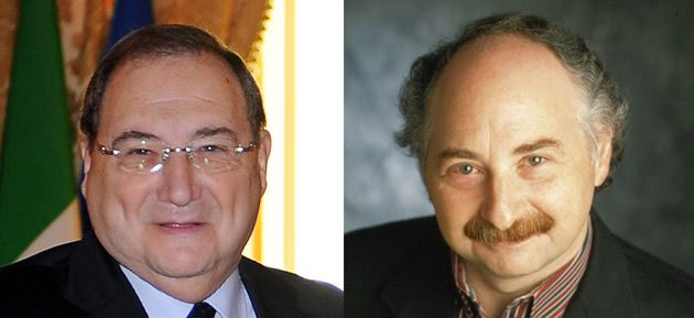 Two Sides of a Coin: Abe Foxman (left) and Jerry Muller discuss Jews, money and capitalism from different perspectives.
