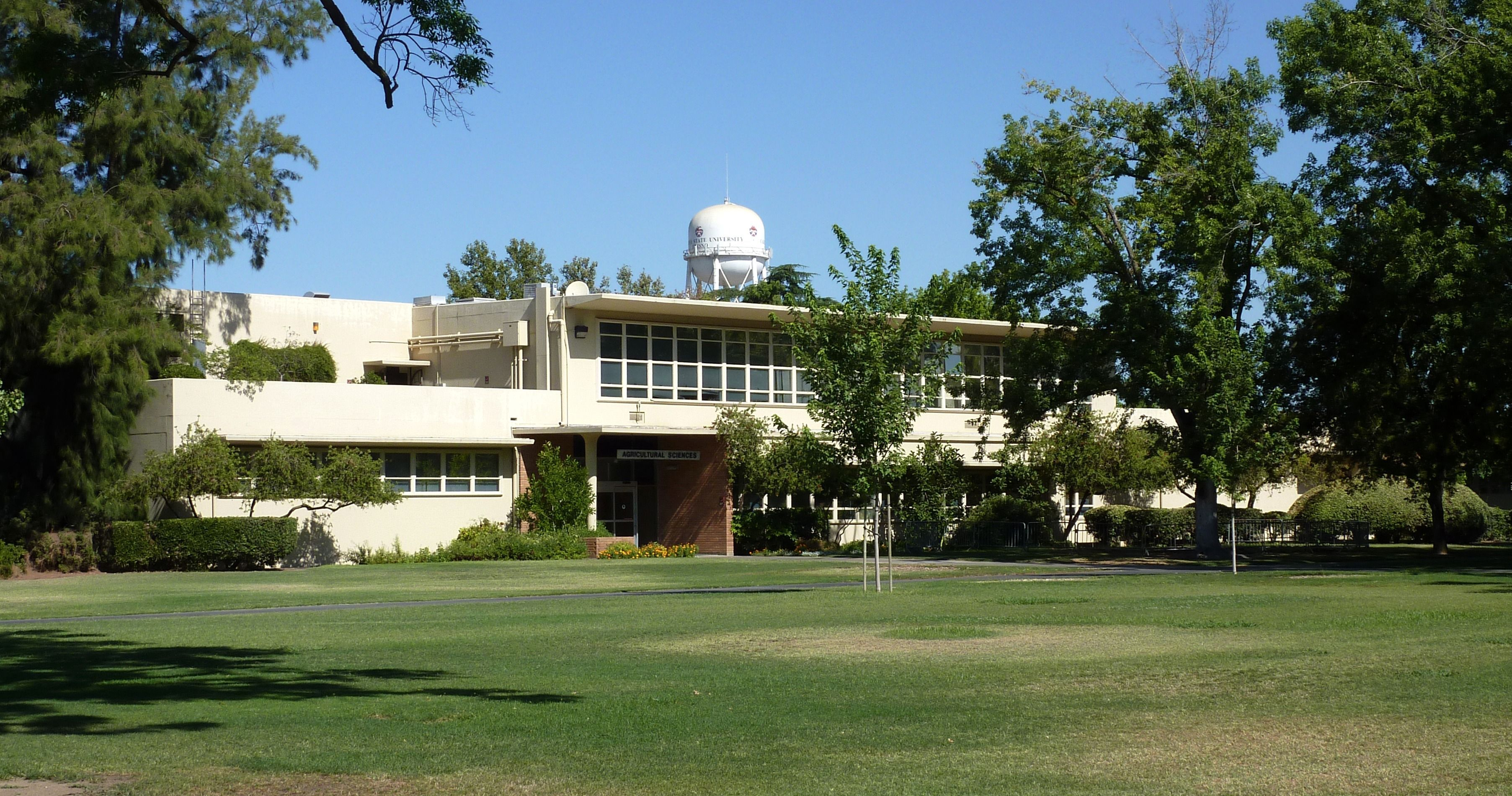 The Agriculture Building at Fresno State University.