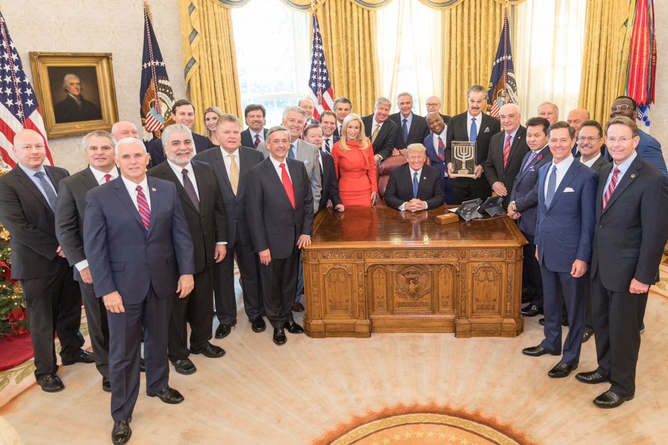 Image result for photos of president trump with evangelicals