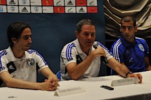 Just Like They Pictured It: Yossi Benayoun, Eli Guttman and Tal Ben-Haim in New York on May 31.