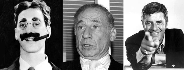 Jews Are Funny: From left, Groucho Marx, Mel Brooks and Jerry Lewis were among the funnymen featured on ?Have I Got Jews for You,? a radio program hosted by Simmons.