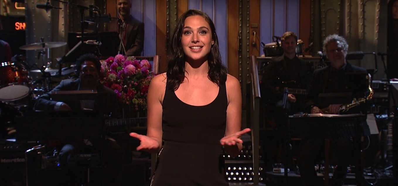 """Gal Gadot speaks Hebrew during the opening monologue of """"Saturday Night Live."""""""