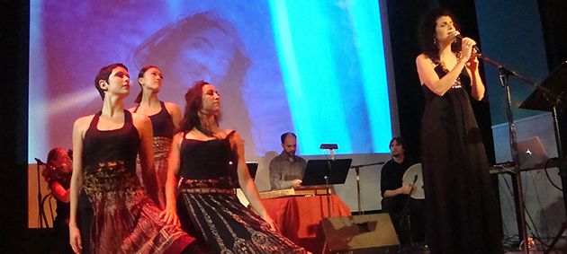Sounds of the Names: Galeet Dardashti sings for audience, dancers and women of the Bible.