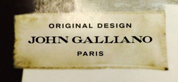 John Galliano's brand new look.
