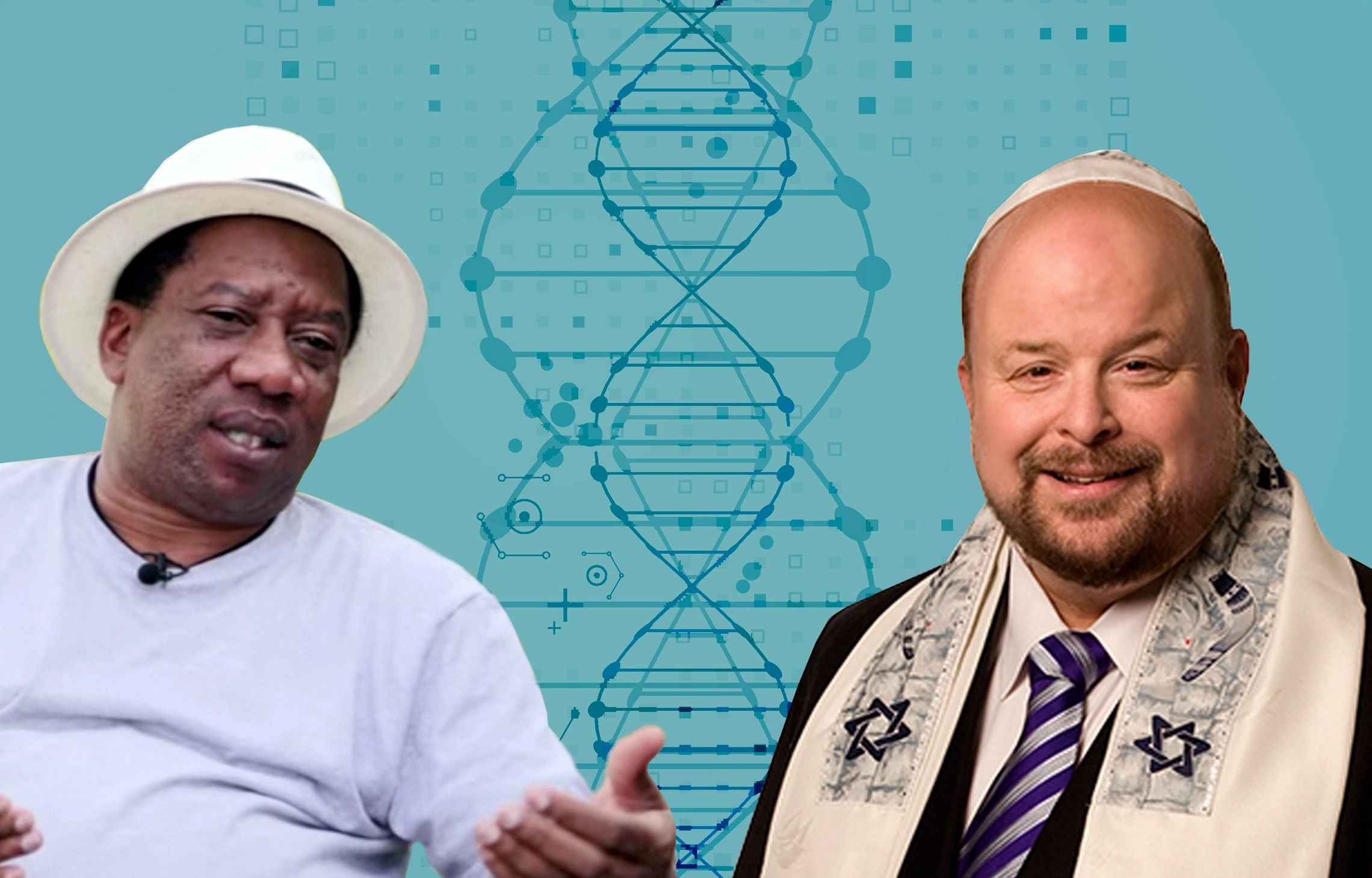 Igbo activist Remy Ilona, at left, and Jonathan Bernis, head of the American missionary group Jewish Voice Ministries International.