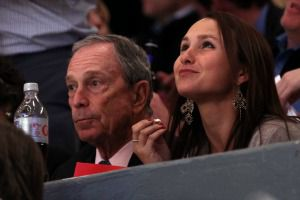 Mayor Michael Bloomberg and daughter Georgina