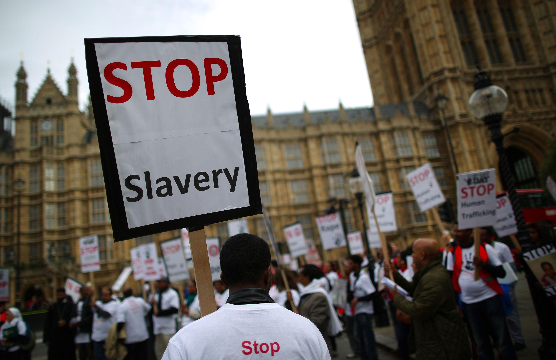 Anti-slavery march, London, 2013.