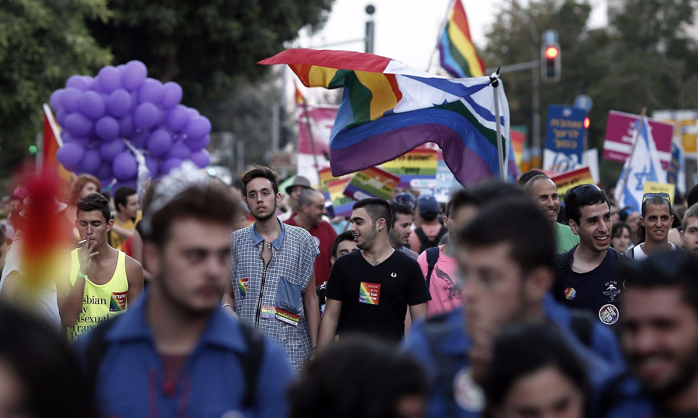 Gay Jewish Israel March LGBT LGBTQ
