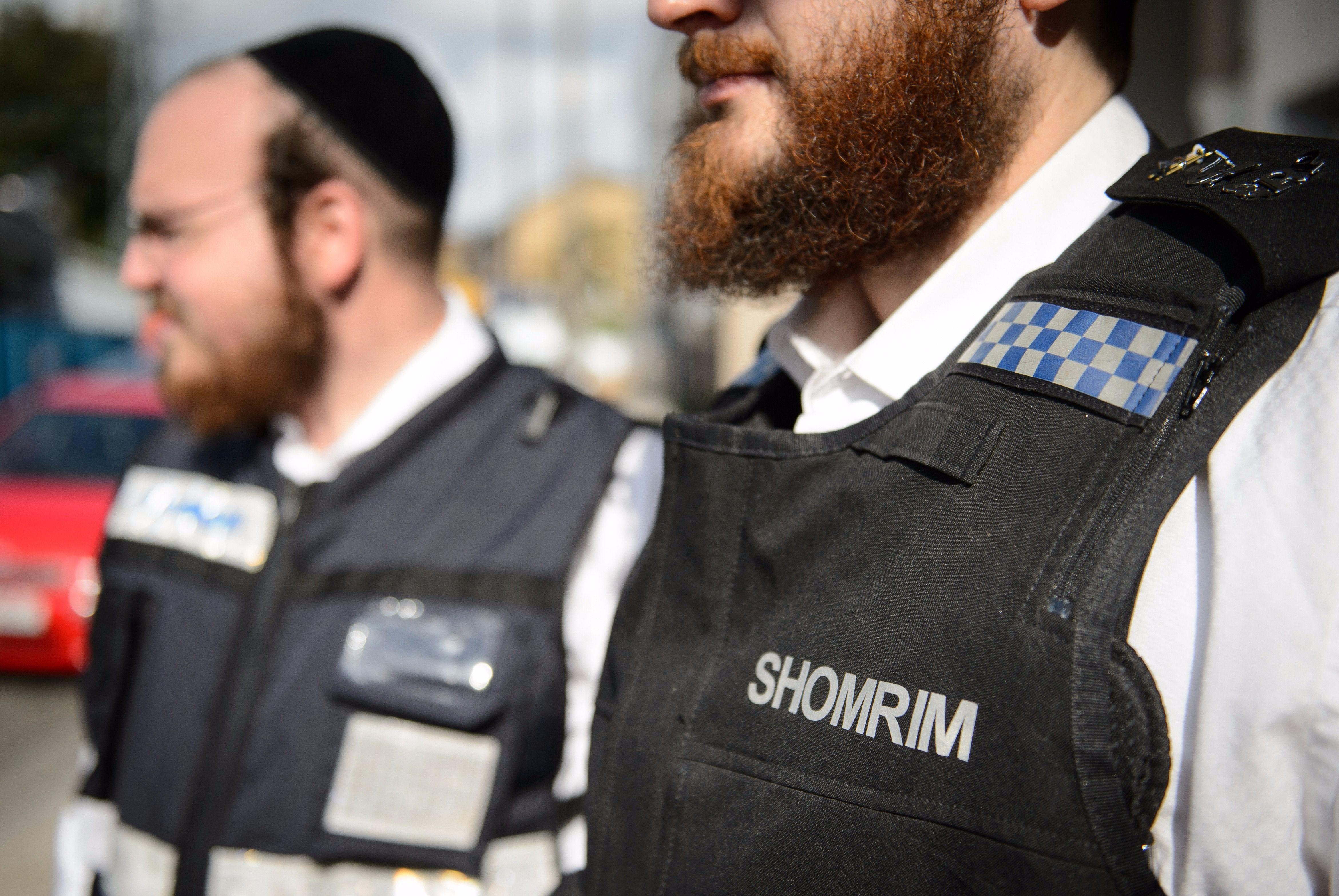 Members of Hackney's private Jewish security patrol team.
