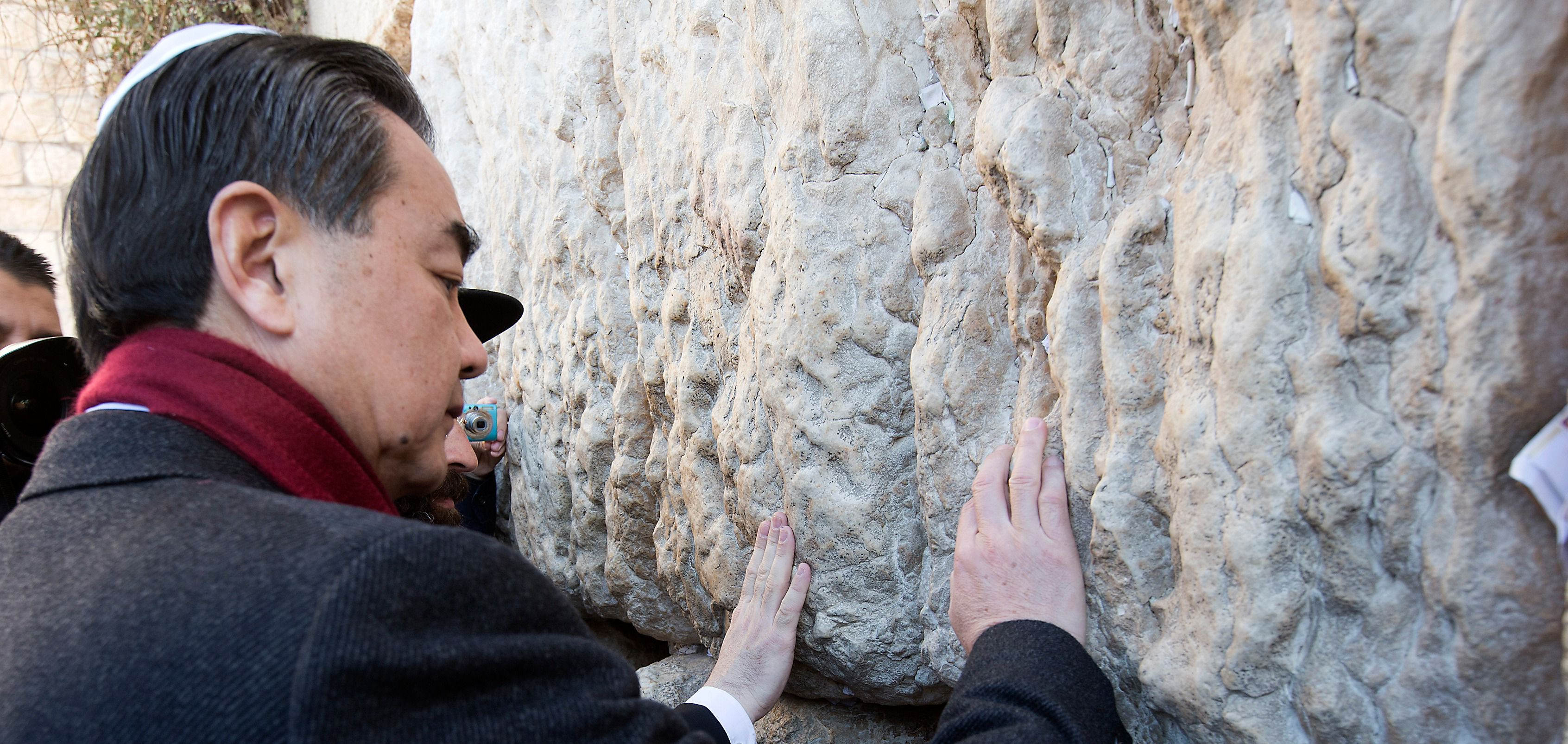 Chinese official at Kotel.
