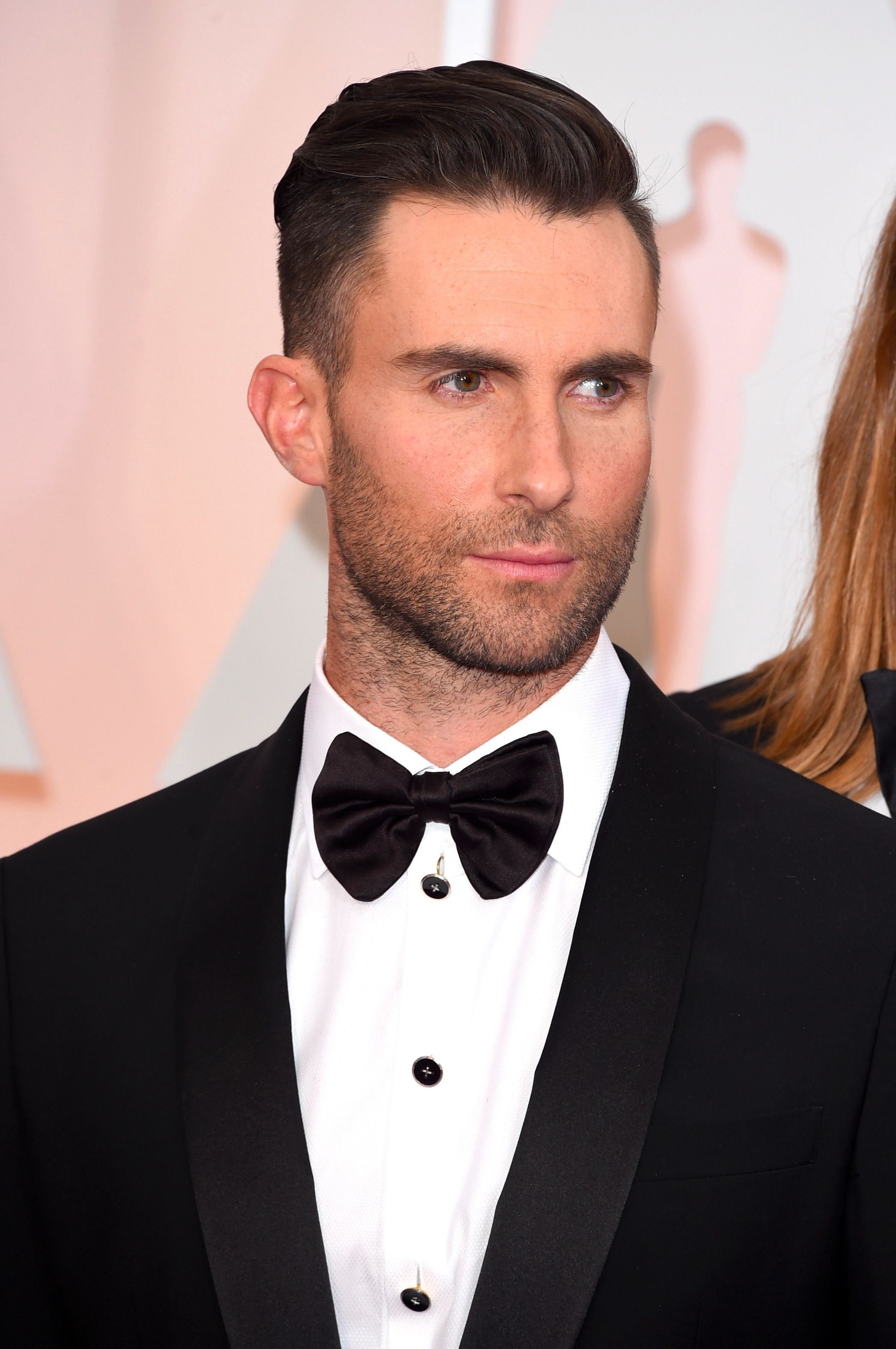 Adam Levine on February 22, 2015 in Hollywood, California