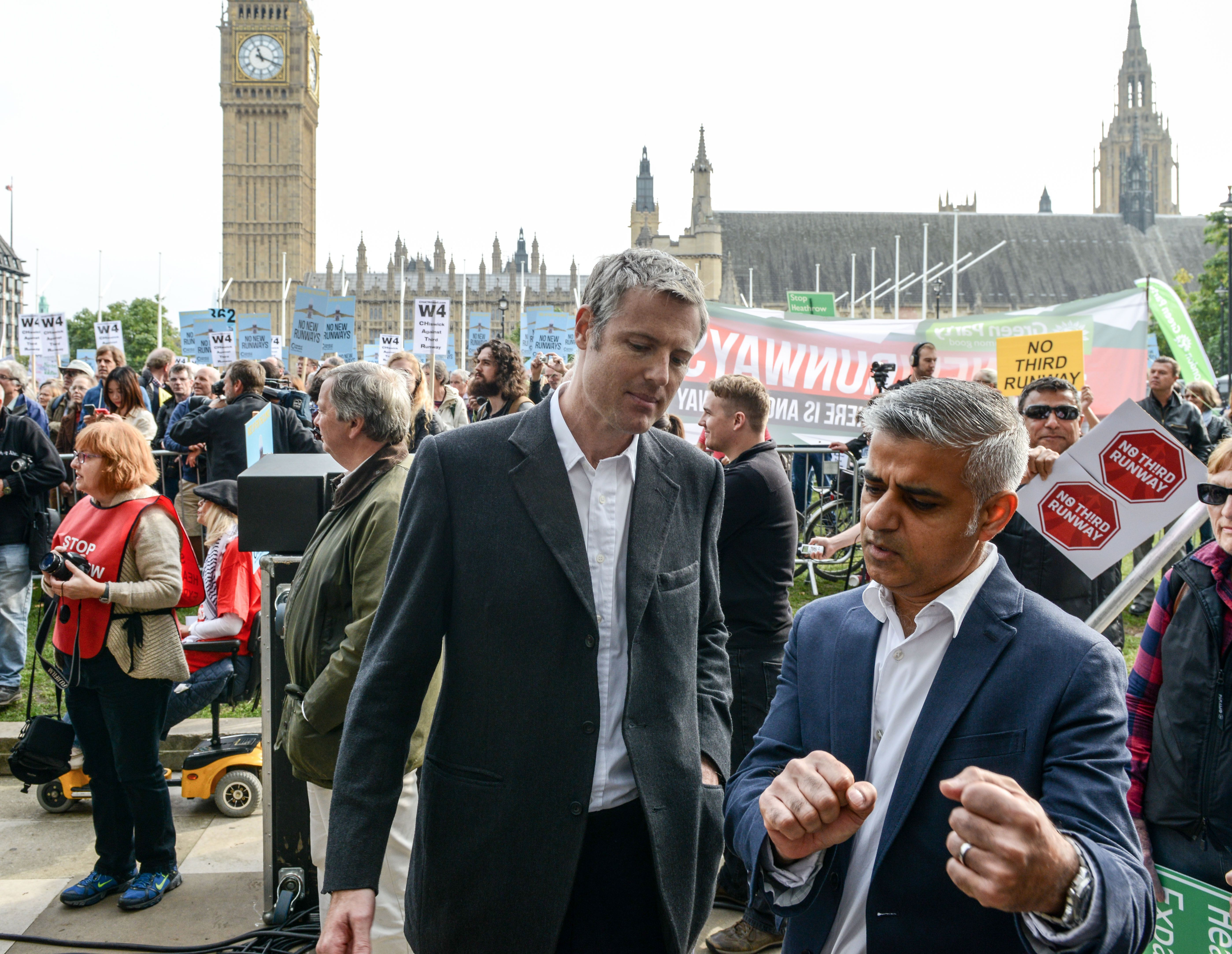 Candidates: Zac Goldsmith (left) or Sadiq Khan will be the next mayor of London.