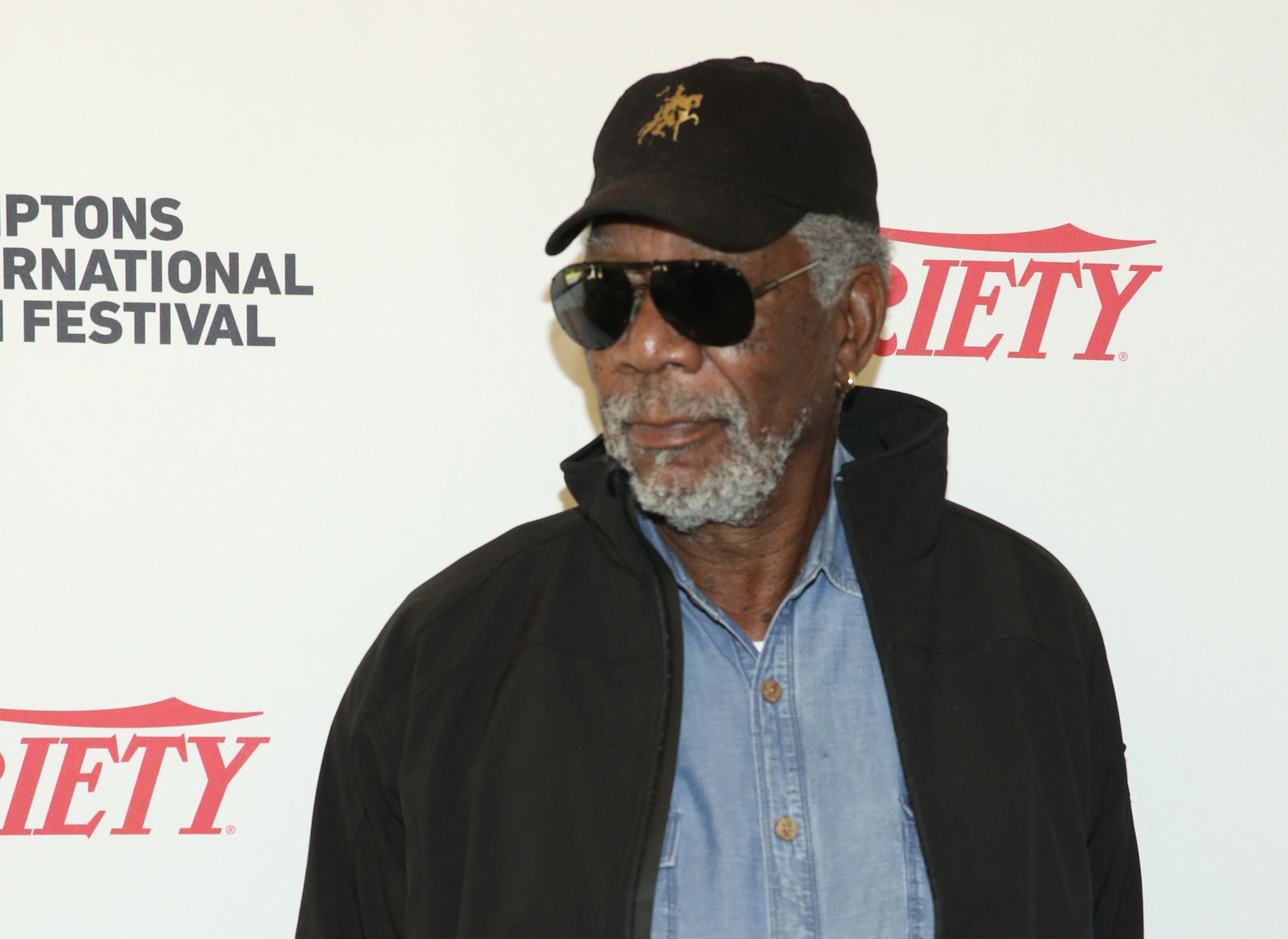 Morgan Freeman at Hamptons International Film Festival.